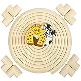 Zindoo 5,2M Länge Kantenschutz + 8 Eckenschützer mit 2 Kindersicherem Gratis Türstopper, aus Weichem Schaumstoff Eckenschutz Geruchlos Für Scharfe Möbel Ecken Tischschutz