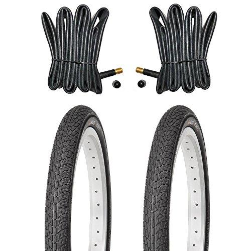 Kujo 2 x 18 Zoll Reifen inkl. Schläuche mit Autoventilen X 18