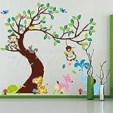 Malilove Monkey Eule Elefant Vogel Zebra Deer Wand Aufkleber Für Kinder Zimmer Einrichtung Abnehmbare Home Aufkleber Tiere Wand Arrt