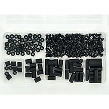 Electronics-Salon M2,5 Hex hembra, Negro de nailon espaciador/tornillo/tuerca surtido Kit, para RASPBERRY-PI, Standoff