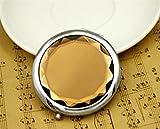 Luxury-uk Tragbarer Handspiegel Runde entzückende Muster Kleine Glas Spiegel Mini Kreise für Arts & Crafts Projekte Dekoration Kosmetik Zubehör braun