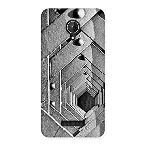 Premium Block Cage Back Case Cover for Micromax Canvas Spark Q380