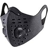 Base Camp Staubdicht Maske Ohrbügel Klettverschluss Anti-Verschmutzungsmaske Aktivierte Kohlenstoff Filtration Abgas Anti Pollen Allergie für Motorrad Biken alle Outdoor-Aktivitäten(Gray)