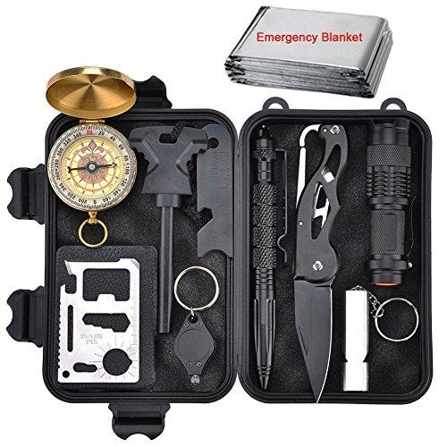 10 in 1 Selbsthilfe Außen Survival Kit Wandern Werkzeuge Box für reisen Camping Wandern Fahrzeug Jagd NotÜBerlebens Zubehör