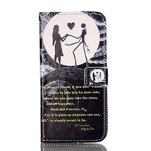 Feeltech IPhone 6 Plus/IPhone 6s PLUS 5.5 Inch Coque [Free Stylet] Book Fonction support Style Clip Portable de Protection Folio Couverture TPU Silicone Souple Fonction Anti-poussière Stand Magnétique Joli couple
