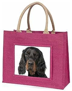 Advanta Gordon Setter Große Einkaufstasche/Weihnachtsgeschenk, Jute, pink, 42x 34,5x 2cm