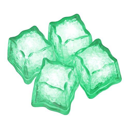 Eiswürfel leuchtend blinkend im 4er Set grün Party Licht Kunststoff Würfel wasserdicht mit Batterie ()
