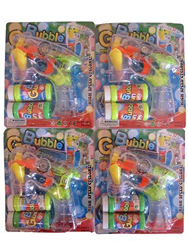 4x Set Seifenblasenpistole mit LED u. Sound Seifenblasenmaschine Bubble Gun
