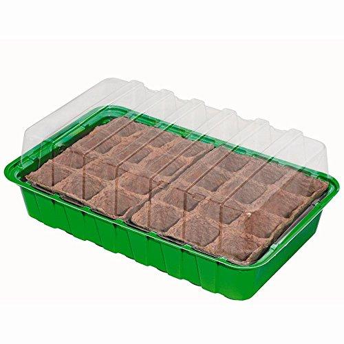 ROMBERG Mini-serre, dimensions : 36 x 22 x 13 cm, avec 24 Lot de casseroles, 36 x 22 x 13 cm,