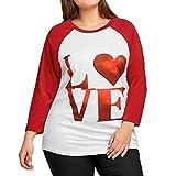 ESAILQ Damen T-Shirt Armelloses Top Frauen Verstellbare Schultergurte Runden Hals Leibchen Crop Top(XXXXXL,Rot)
