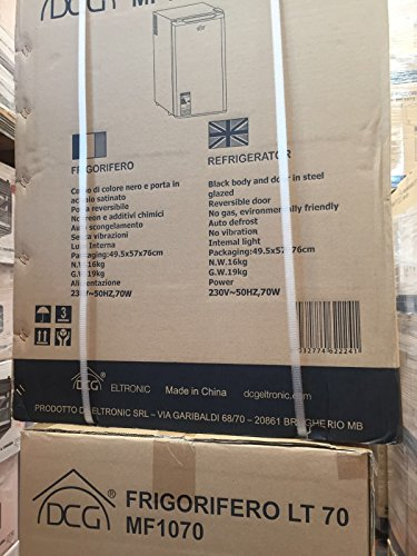 DCG Eltronic MF1070 portable Noir, Acier inoxydable réfrigérateur - Réfrigérateurs (Noir, Acier inoxydable)