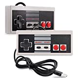 iNNEXT 2 x USB NES Controller Gamepad,Retro NES PC-Controller Spiel Joypad für Windows 10 PC Mac Raspberry Pi / RetroPie NES Emulator