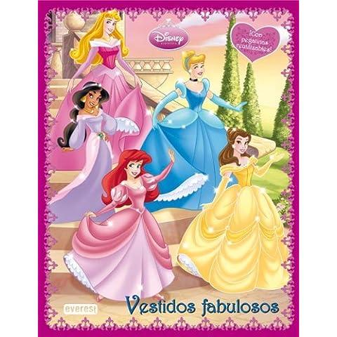 Princesas Disney. Vestidos Fabulosos. Libro de pegatinas reutilizables (Princesas Disney / Libros con pegatinas y