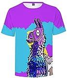 SERAPHY 2018 Newly Arrival Unisex Camiseta 3D Print Fortnite Battle Royale Camiseta para Hombre/Mujer Q41 XS