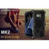COQUE SAMSUNG GALAXY S7 EDGE - LOVEMEI FRANCE MK2- Antichoc - Noir