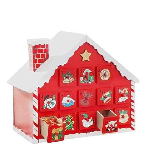 mamum Dekoration bunt Weihnachten Spielzeug Town Advent Candy Cane House Größe: 31x 18x 26cm
