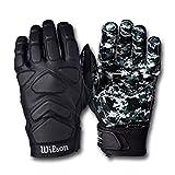 Best Football Lineman Gloves - WILSON tacktech MVP lineman american football gloves [black]-Large Review