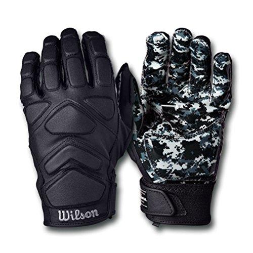 Wilson MVP Tacktech Lineman American Football Handschuhe - schwarz Gr. L