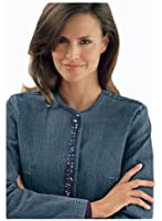 Femininer Jeansblazer mit Pailletten 398
