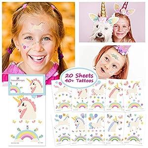 Unicornio Tatuajes Temporales para Niños