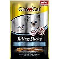 GimCat Kitten Sticks Truthahn – softer Katzensnack mit hohem Fleischanteil und Calcium für gesundes Wachstum – 24 Packungen (24 x 3 Sticks)