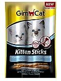 GimCat Kitten Sticks Truthahn | softer Katzensnack mit hohem Fleischanteil und Calcium für gesundes Wachstum | 3 Packungen (3 x 3 Sticks)