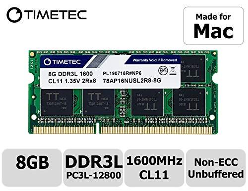 Timetec Hynix IC compatible with Apple 8GB DDR3 1600MHz PC3-12800 SODIMM Memory Upgrade For MacBook Pro, iMac, Mac mini/ Server