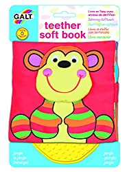 The First Years Galt Toys Inc First Years Jungle Teether Soft Book