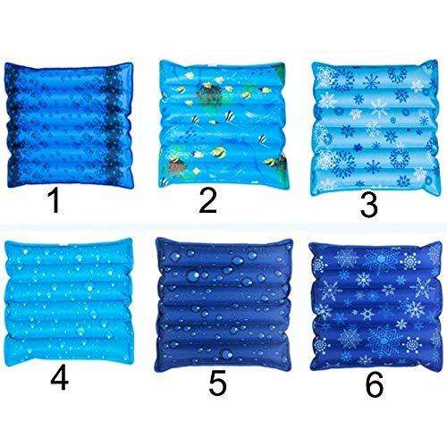 Hundebett Cooler Mat Pad Wasserkühlung Pet Cooling Dog Pad Kissen Sommerkühlung Bed Mat Soft Cool Dog House Mat (Color : Blue dog mat, Size : 45x45cm) -