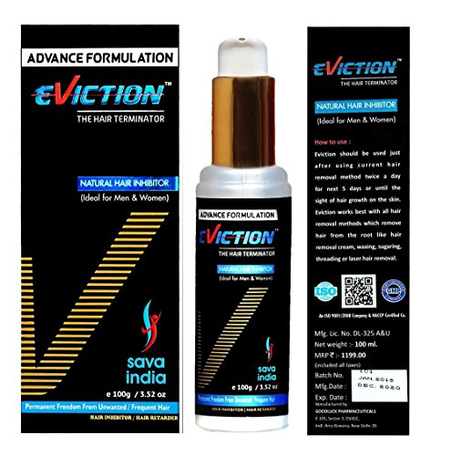 Eviction Unisex Natural face, Body, Bikini Line, Underarm Permanent Hair Removal Cream,100ml
