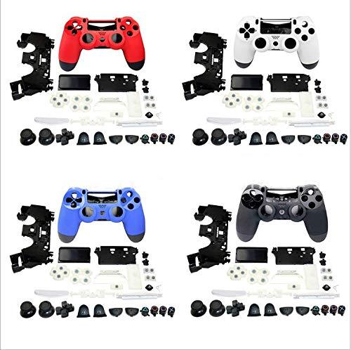 JDM-011 JDM-001 Komplettes Gehäuse für Joystick-Controller, volle Tasten, Ersatz für PS4 Playstation 4 Controller blau - Playstation Gehäuse 4