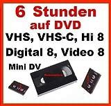 Produkt-Bild: 6 Stunden, VHS,VHS-C,Digital 8,Hi8, MiniDv,Digitalisieren auf DVD