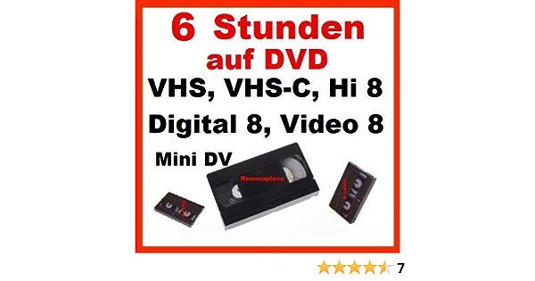 6 Stunden Vhs Vhs C Digital 8 Hi8 Minidv Digitalisieren Auf Dvd Bürobedarf Schreibwaren