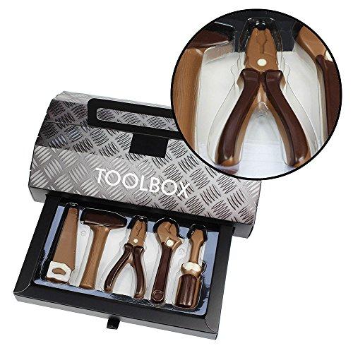 Preisvergleich Produktbild Monsterzeug Werkzeugkoffer mit Schokolade,  Schokowerkzeug,  Leckere Toolbox mit Süßigkeiten,  Schokoladenwerkzeug,  Schokoladen Geschenke,  Männer,  Vatertag,  Werkzeugkasten