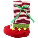 Bolsa para Vino Botella Envoltura Cubierta Bolsa Caja de Almacenamiento Regalo Navidad Decoración - Rojo