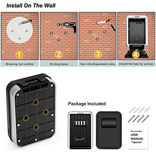 Zoom IMG-3 key lock box wall 4