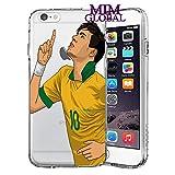 MIM Global Football Soccer Etuis Coque Case Cover Compatible pour Tous iPhone (iPhone 6 Plus/6s Plus, Neymar)