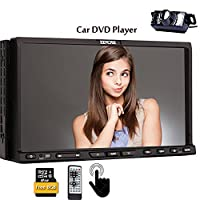 New Capacitive TouchScreen Double 2 din Car DVD CD Player GPS Navigation 7 Inch in-dash Car Stereo Audio SAT NAV Bluetooth Car Video iPod USB SD FM AM RDS Radio Free Map Card Headunit with Rear Camera
