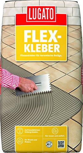 Lugato Sicher & Flexibel Fliesenkleber 25 kg - Für bis zu 14 m²