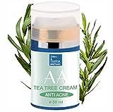Crema Idratante di Aloe Vera e Albero del tè 50 ml Anti Acne Unisex