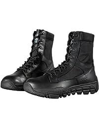FREE SOLDIER Herren's Wildleder Leder Taktische Stiefel Mid Cut Atmungsaktiv Leicht Wandern Schuhe