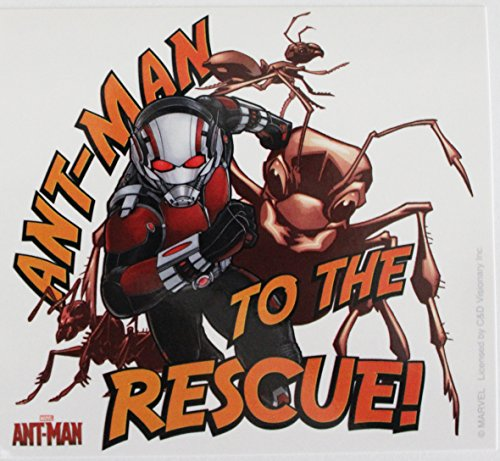 "ANT-MAN RESCUE, Officially Licensed Classic Rock Artwork, 4.5"" x 5"" - Sticker DECAL autocollant"