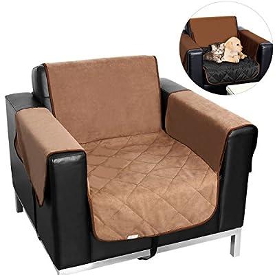 UEETEK One-Seat Sofa Slipcover Waterproof Pets Dog Cat Sofa Chair Cover Furniture Protector (Khaki) - low-cost UK light shop.