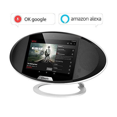 Foto de Clazio WIFI Internet Radio Portable Bluetooth Speaker Voice Control for Alexa or OK Google Android 6.0 Touchable Wireless Speaker for Golf Beach Shower Home