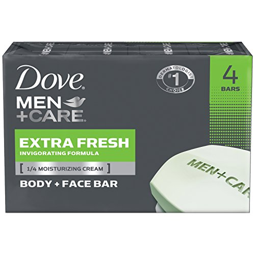 Dove Men + Care Body and Face Bar, Extra Fresh, 4 Count by Dove Men + Care