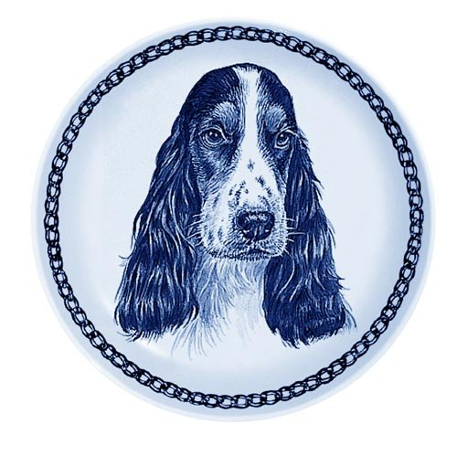English Cocker Spaniel Lekven Design Dog Plate 19.5 cm /7.61 inches Made in Denmark NEW with certificate of origin PLATE #75650