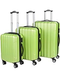 Vojagor® - Juego de 3 maletas rígidas tamaños S, M, L (10 colores a elegir)