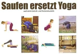 Postkarte - Saufen ersetzt Yoga: Amazon.de: Bürobedarf