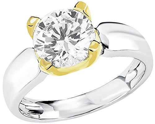s.Oliver Damen-Ring 925 Silber rhodiniert Zirkonia weiß Gr. 54 (17.2) - 524254