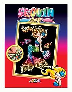 Sequin Art- Kit de Bricolaje para niños, mía la Sirena, CREA Bello Arte Colorido con Lentejuelas, (5013-1803)